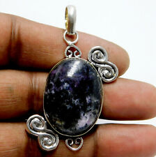 Natural charoite stone 925 Sterling Silver Plated Jewellery Women Pendant 13 Gm