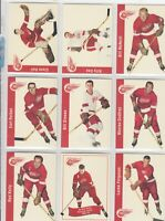 1956-57 PARKHURST REPRINTS DETROIT RED WINGS 30 DIFFERENTS CARDS      a