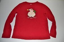 UGLY CHRISTMAS RED HO HO HO SANTA CLAUS HOLIDAY SHIRT SIZE LARGE L