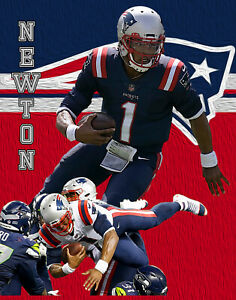 New England Patriots Lithograph print of  Cam Newton 2020 11 x 14