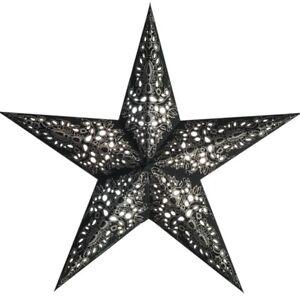 Starlightz Stern Mono schwarz silber 60 cm Papierstern Leuchtstern