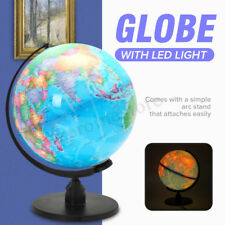 25CM Illuminating World Map Globe Desk Lamp LED Night Light Home Bedroom