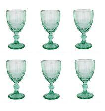 Weinglas Vintage Schleife turkis Glas Gläser Weingläser Sektglas Wasserglas