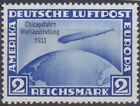 Deutsches Reich 497 * 2 Mk. Chicagofahrt, ungebraucht mit Falz