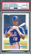 1990 SCD Price Guides Insert #1 DARRYL STRAWBERRY New York Mets PSA 10 GEM MINT