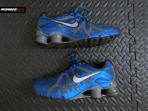 Nike Shox Shocks Turbo 13 Signal Metallic Blue Mens Sz 8 Athletic Shoes Sneakers