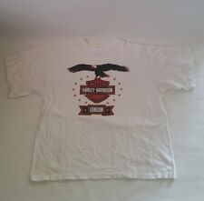 Harley Davidson London Motorcycle Eagle Crewneck T-Shirt XXL - White