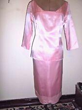 MESHIA satin SKIRT & TOP set size 10-12 NEW&tags $399 pink occasion eveningwear