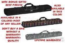 New Life Warranty EZ Loading Padded High Sierra Double Ski Bag + Bonus + Colors!