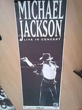 MICHAEL JACKSON TOUR CONCERT POSTER 168 x 60 cm FRANKFURT BAD DANGEROUS ORIGINAL
