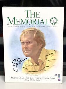 Jack Nicklaus PGA Golf Signed 2000 The Memorial Program Autographed Auto COA