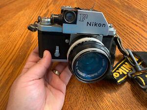 1960's Nikon F Photomic Camera Nippon Tokyo Japan 6494531 With Lens Nikkor-s 50