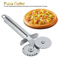 Handheld Pizza Cutter Stainless Steel Wheel Roll Slicer Kitchen Tool Non Stick