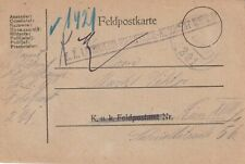1917 Austria Empire Field Post card sent from Landwehr Infantry Regiment Wien