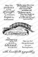 Impression Obsession Cling Rubber Stamp BRIDGE SET CL712 Sympathy Religious God