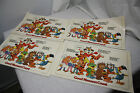 Kellogg's Vintage Table Place Mats Set of 4 Good Manners Count 1980's NOS