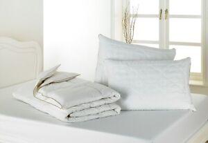 PURE WOOL FILL / COTTON CASE BEDDING 5 Tog Summer Lightweight Quilts & Pillows