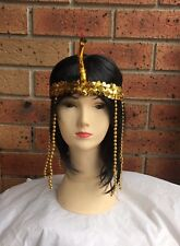CLEOPATRA HEADPIECE Egyptian Headband With Snake Headdress Fancy Costume Sequin