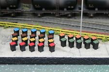 More details for modern wheelie bins - all coloured lids - oo gauge 1/76 - bulkscene - pack of 30