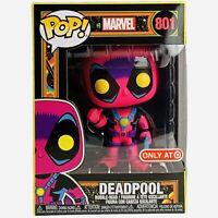Funko POP! Marvel Xmen Deadpool Blacklight #801 Target Exclusive Vinyl Figure
