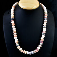 360.00 Cts Earth Mined Pink Australian Opal Round Shape Beads Necklace NK 61E36