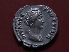 FAUSTINA Senior, died A.D.141, Denarius. Rev-Pietas standing left.. gVF