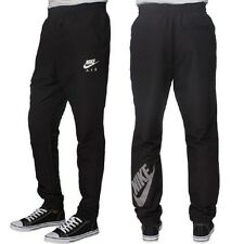 Mens New Nike Skinny Fit Tracksuit Jogging Bottoms Joggers Track Pants - Black