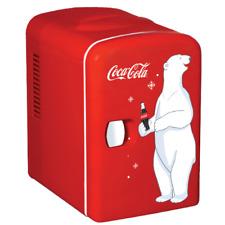 Classic Coca Cola 4 2 Quart 6 Can Personal Mini Cooler Fridge 12 110 Volt Red