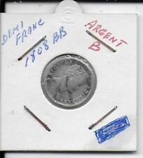 france demi-franc napoleon empereur 1808bb argent