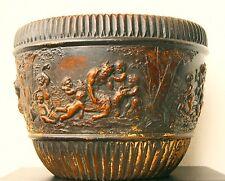 Johann Maresch Antike Terracotta Morphologie Relief Blumentopf Sidorolith 1900
