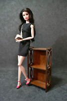 "Shelf for Barbie FR BJD Dolls 12"" 1/6 furniture handmade diorama OOAK v4"