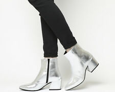 Womens Vagabond Silver Leather Zip Ankle Boots UK Size 6 *Ex Display