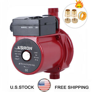 NPT 3/4'' Automatic Booster Pump 110V Household Hot Water Circulation Pump