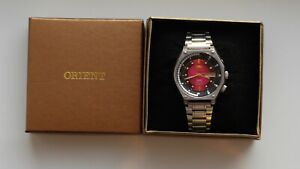 Mens Watch Orient SK Crystal Diver Red Dial Watch, 21 Jewels / SERVISED