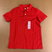 Old Navy Boys Size Small (6/7) Red Uniform Built-In Flex Pique Polo Nwt