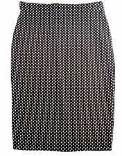 NWT Pep&Co. Size 10 Black Diamond Patterned Pencil Work Skirt Stretchy Knee