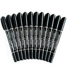 High Quality Black Permanent Marker Pen Office Highlighter Mark Pen 1PC