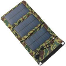 USB 5V 5W Portable Solar Panel Travel Emergency Foldable Charger Power Bank