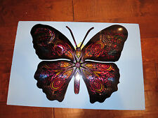 NEXT INNOVATIONS-Butterfly-Patchouli- Steel Wall Art Decor-Indoor or Out-New