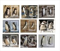 2011 BIRDS PENGUINS 15 SMALL BLOCKS MNH UNPERFORATED