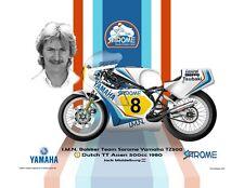 Print on Canvas Yamaha TZ500 #8 Jack Middelburg (NED) winner Dutch TT 1980 #2/5