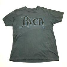 Rvca Men's Grey Shirt Size M Medium Va Script Logo Tee The Balance Of Opposites