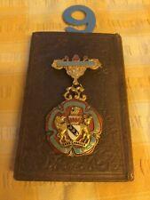 Antique Royal Masonic Institute For Boys Steward Medal 1946 gold g. Kennings