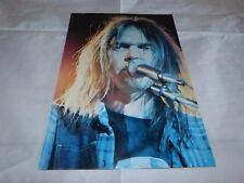 NEIL YOUNG - Mini poster couleurs 12 !!!!!! VINTAGE 70'S !!!!!!!!!
