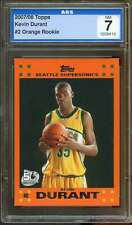 Kevin Durant Rookie Card 2007-08 Topps Orange #2 AGS 7