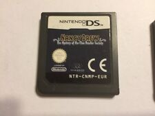 NINTENDO DS DSL DSi XL GAME Nancy Drew The Mystery Of The Clue Bender Society