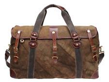 Iblue Overnight Travel Bag Leather Weekend Vintage Canvas Mens Large #213178