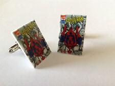 Classic Amazing Spiderman Comic Book Cover Cufflinks - Hero Wedding Retro Spidey