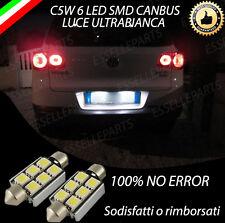 COPPIA LUCI TARGA LED VW TIGUAN CANBUS BIANCO NO ERROR