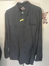 harley davidson long sleeve Pin Striped Shirt